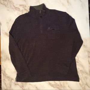Tommy Hilfiger Men's L 1/4 Zip Purple Sweater